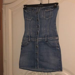 Strapless Denim Guess dress